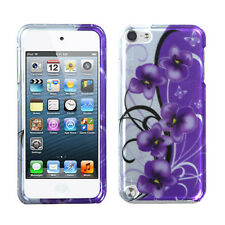 For iPod Touch 5 5th gen HARD Protector Case Snap On Cover 2D Twilight Petunias