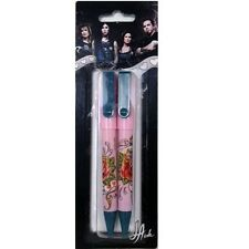 La Ink Pen Pack Rose rédaction de notes école bureau stationnaire Pack de 2 stylos tatoo