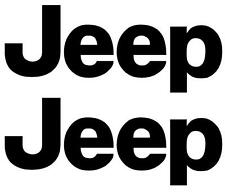 2 x JEEP Logo Off Road Wrangler Cherokee 4x4 Decal Sticker Graphic Carbon