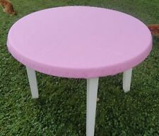 """Bridge card table cover PINK Poker Tablecloth FITS 48"""" ROUND TABLE free ship NLG"""