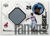 Manny Ramirez #MR (1999 Upper Deck) Game Used Jersey, Cleveland Indians