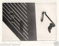 "Anne Dykmans "" Aout""  1983  16/40  Mezzotint"