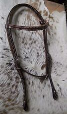 Dark Oil Harness Leather Browband Western Horse Headstall U.S. Made TACK