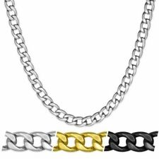 Cadena Con/Sin Pulsera de Acero Inoxidable Collar Hombre Collar Oro Plata