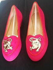 Charlotte Olympia Shoes Pink Rat Suede Birthday Shoes 35.5 / 5.5 US  $915 Retail