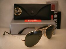 Ray Ban 3029 Outdoorsman II Gold w Green Crystal (G-15) Lens (RB3029 181)