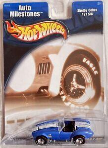 HOT WHEELS AUTO MILESTONES - SHELBY COBRA 427 S/C - REAL RIDER TIRES !!