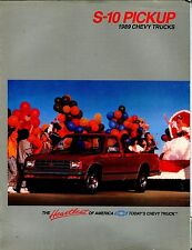 1989 Chevy Trucks S-10 Pickup Automobile Brochure EX 021917jhe