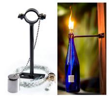 Outdoor Wine Bottle Bracket with fibreglass Wick brass Head For Kerosene & oil