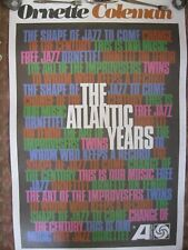 Ornette Coleman, The Atlantic Years, Poster for 10 Lp Boxed Set, 1959-1962, New!