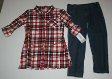 New Carter's 5 year Girls 2 Piece Outfit Set Holiday Plaid Tunic Top & Leggings
