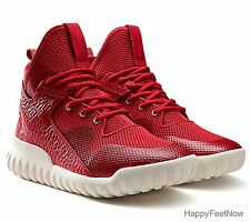 ADIDAS ORIGINALS TUBULAR X CHINESE NEW YEAR MEN'S SHOES SIZE US 10 RED AQ2548