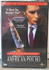 American Psycho (Dvd, 2000, Unrated) Rare Christian Bale Horror Thriller New