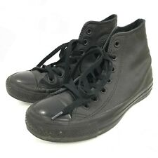 Converse High Top Trainers UK 4.5 Black Women's Leather Lace Up Casual 301541