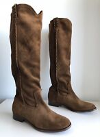 Frye Cara Suede Leather Knee High Boots, Wood. Size 6