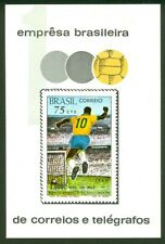 BRAZIL stamp 1970  Pele 1000th goal - Soccer -Scott # 1145  RHM B-28 plus blocks
