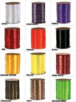 "Halloween Colors 1/4"" PEARLIZED Synthetic Raffia Choose Color & 10 Or 100 Yards"