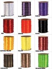 """Halloween Colors 1/4"""" PEARLIZED Synthetic Raffia Choose Color & 10 Or 100 Yards"""