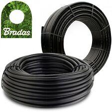 Bradas® Verlegerohr Wasserrohr Garten PE Rohr 100m Bewässerungssystem Pipeline