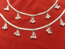 Anklets Bracelet pakistan BareFoot Chain bells Ankle Jewelry India Payal Silver