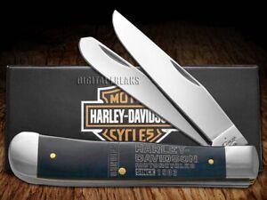 Case xx Harley Davidson Trapper Knife Blue Bone Stainless Pocket Knives 52208