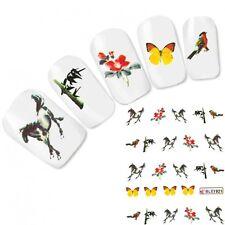 TATTOO unghie Sticker adesivi farfalla GIAPPONE CAVALLO HORSE NAIL ART UNGHIE