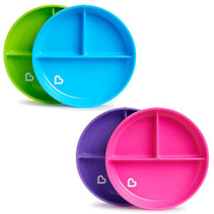 Munchkin Stay Put Suction Plates - 4 Colours