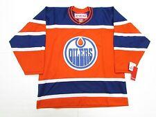 ALBERTA OILERS ORANGE VINTAGE CCM NHL HOCKEY JERSEY SIZE LARGE