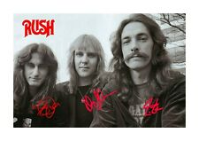 Rush 2 1977 A4 reproduction autograph photograph poster with choice of frame