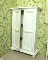Dollhouse Miniature Cabinet Armoire Wardrobe Cupboard Bedroom Furniture 1:12 Toy
