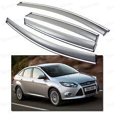 Window Visor Vent Shade Rain/Sun/Wind Guard for Ford Focus Sedan 2011-2014 12 13