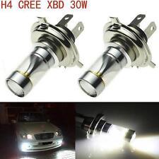 2X 30W Cree H4 9003 LED Headlight Hi Lo Beam 600LM Motorcycle 6000K White Bulbs