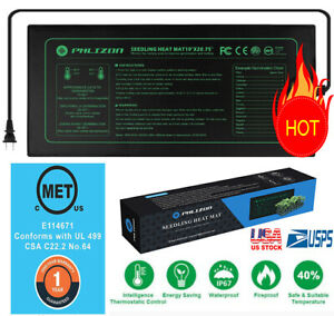"Waterproof Seedling Heat Mat 10x20"" Warm Hydroponic Germination Heating Pad MET"