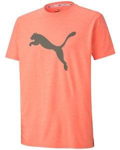 PUMA Men's Orange dryCELL Logo Print T-Shirt NEW NWT