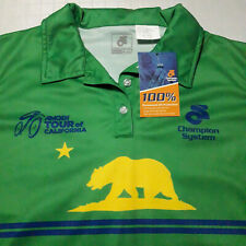 NWT Amgen Tour of California Womens Medium Champion System Polo Cycling Shirt