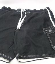 Ocean Pacific CL 40-42 Black Mens Swim Trunks Bathing Suit