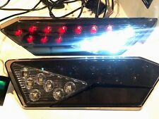 Black LED Tail Lights  With REVERSE LIGHTS 14-18 POLARIS RZR 1000 XP & S backup