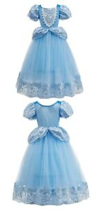 Kids Girls Princess Cinderella  Party Dress Children Christmas Halloween Costume