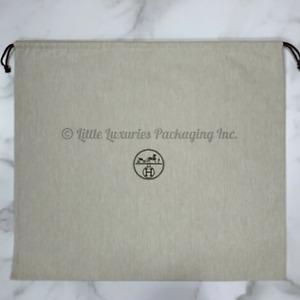 BRAND NEW Authentic Hermes Tweed Drawstring Birkin 35 Storage Dust Bag 23.5 x 23