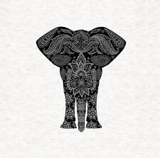 Mandala Pattern Elephant - Fabric Cushion /Upholstery Craft Panel