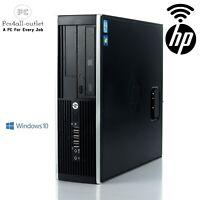 Fast HP Elite SFF/DT Fast Intel Core i5 16GB RAM HDD SSD Windows 10 Pro PC WiFi