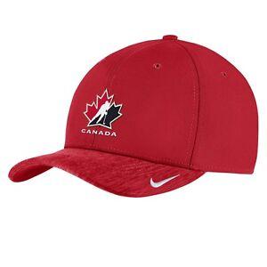 Men's 2019 Team Canada Hockey IIHF WJC Dri-Fit Aero Coaches Red Cap Hat