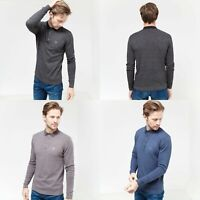 Duck And Cover Mens Cartwright Knitted Long Sleeve Collared Polo T Shirt Top Sik