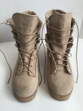 WELLCO Army Combat Military Boots Mens Size 10.5 R Desert Tan Vibram Soles NICE