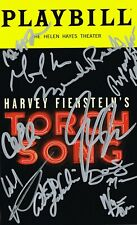 Torch Song Broadway Cast OBC SIGNED Playbill Michael Uri COA