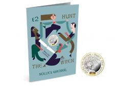 Isle Of Man 🇮🇲 Hunt the Wren Christmas Card & £2 Coin Gift Pack
