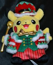 "9.5"" Christmas Pikachu Official Pokemon Center Poke Plush Dolls Toys Xmas Gifts"