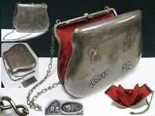 Antique Art Deco Women's HANDBAG SILVER 84 purse pouch RUSSIAN EMPIRE 200g