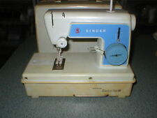 VTG 1960's SINGER LITTLE TOUCH & SEW SEWING MACHINE W/CARRY CASE MODEL 67A3