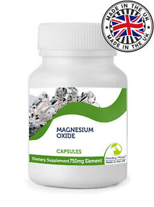 Magnesium Oxide 750mg Capsules Health Supplements